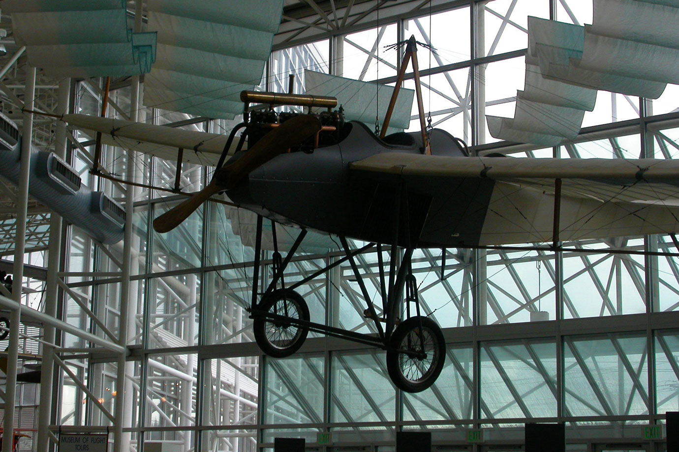 A replica of the Rumpler Taube, Seattle Museum of Flight